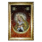 Икона с янтаря Божьей Матери Остробрамская