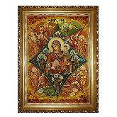 Икона с янтаря Божией Матери Неопалимая Купина