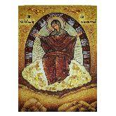 Икона с янтаря Божией Матери Спорительница хлебов