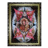 Икона с янтаря Неопалимая Купина