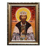 Икона с янтаря Святого князя Владимира