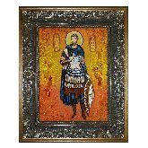 Икона Савел Персиянин Халкидонский из янтаря