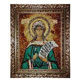 Икона Серафима Римская из янтаря