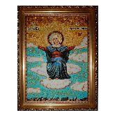 Икона спорительница хлебов из янтаря