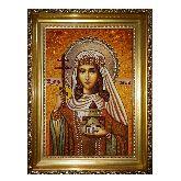 Икона Святая царица Тамара Великая из янтаря