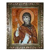 Икона Святая Марина (Маргарита) из янтаря