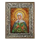 Икона Святая мученица Ариадна из янтаря