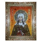 Икона Святая мученица Ираида (Раиса) из янтаря