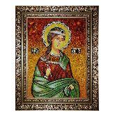 Икона Святая мученица Руфина из янтаря