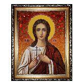 Икона Святая мученица Вера Римская из янтаря