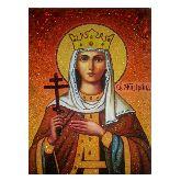 Икона Святая Великомученица Ирина из янтаря