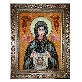 Икона Святая Вероника из янтаря