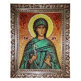 Икона Святая Злата из янтаря