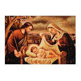 Икона Святое семейство с янтаря