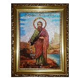 Икона Святой Апостол Павел из янтаря