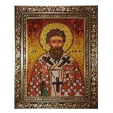 Икона Святой Дионисий из янтаря