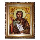Икона Святой Иоанн Креститель из янтаря