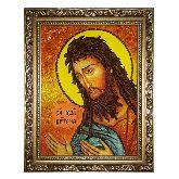Икона Святой Иоанн Предтеча Креститель из янтаря
