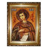 Икона Святой пророк Даниил из янтаря