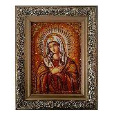 Икона Умиление из янтаря