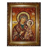 Икона Виленская Божья Матерь из янтаря