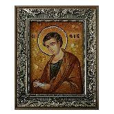 Именная икона Апостол Филипп из янтаря