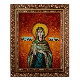Именная икона Мария Вифинская из янтаря