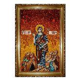 Икона Иоанн Креститель из янтаря