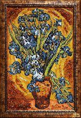 Картина из янтаря Ирисы