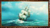 Яхта с белым парусом