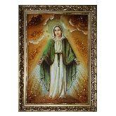 Непорочное Зачатие Девы Марии - икона из янтаря