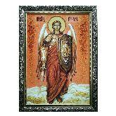 Янтарная икона Архангел Михаил