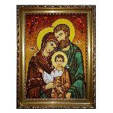 Янтарная Икона Святое семейство