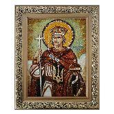Янтарная икона Святой князь Владимир