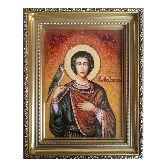 Янтарная икона Святой Трифон мученик Апамейский