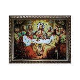 Янтарная икона Тайная вечеря из янтаря