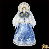 Фарфоровая кукла большая Снегурочка в кокошнике.