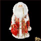 Фарфоровая кукла малая Дед мороз в красном.