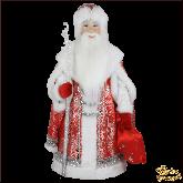 Фарфоровая кукла большая Дед Мороз в красном.