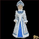 Фарфоровая кукла большая Снегурочка в сером.