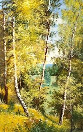 """Картина на холсте """"Лес в октябре"""""""