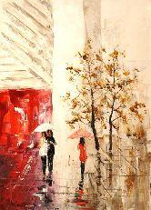 """Картина на холсте """"Под дождем"""""""