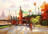 "Картина на холсте ""Москва.Осень"""