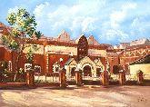 """Картина на холсте """"Лаврушинский переулок. Государственная Третьяковская галерея"""""""