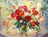 """Картина на холсте """"Букет тюльпанов"""""""