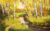 """Картина на холсте """"Теплая осень"""""""