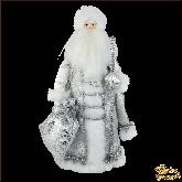 Фарфоровая кукла малая Дед Мороз в серебре.