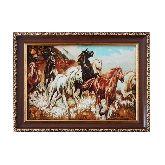 Картина бегущие лошади из янтаря