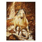 Картина Белый конь из янтаря