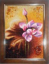 Картина чудесная лилия из янтаря